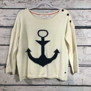 LOGG By H&M Long Sleeve Crew Neck Anchor Sweater